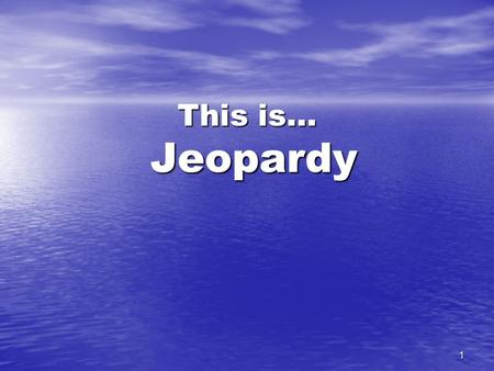 1 This is… Jeopardy 2 Theorists TermsPerspectivesBarronsTerms Cont.Misc. 100 400 500 300 200 300 200 100 200 300 400 500 200 100 500 400 300 200 100.
