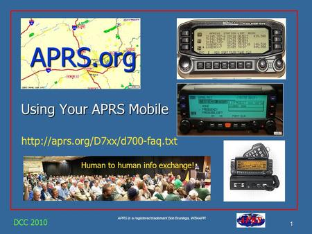 APRS.org Using Your APRS Mobile