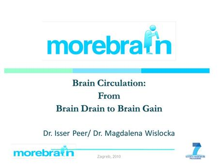 Zagreb, 2010 Brain Circulation: From Brain Drain to Brain Gain Dr. Isser Peer/ Dr. Magdalena Wislocka 1.