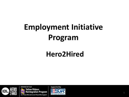 Supported By Employment Initiative Program Hero2Hired 1.