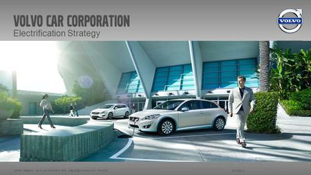 Volvo car corporation Electrification Strategy