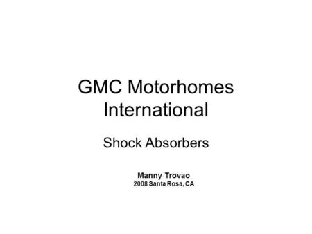GMC Motorhomes International