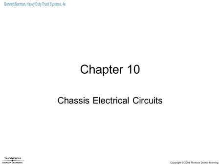 Chassis Electrical Circuits
