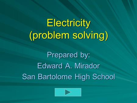 Electricity (problem solving)
