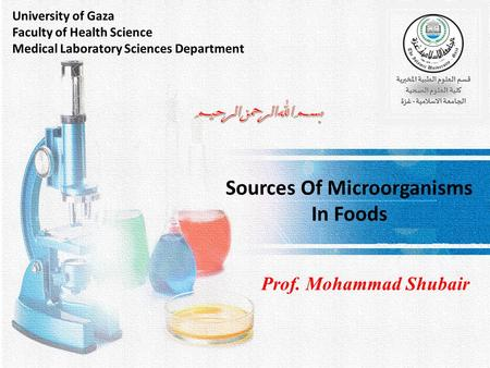 Sources Of Microorganisms In Foods