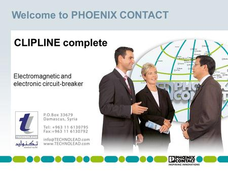 Welcome to PHOENIX CONTACT Masterversion 13 Electromagnetic and electronic circuit-breaker CLIPLINE complete.