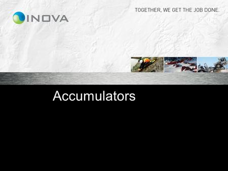 Accumulators.