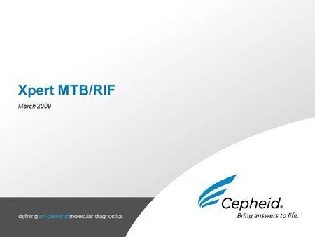 Agenda Background Current testings Xpert MTB/RIF product PAGE | 1.