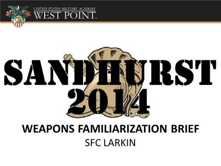 WEAPONS FAMILIARIZATION BRIEF