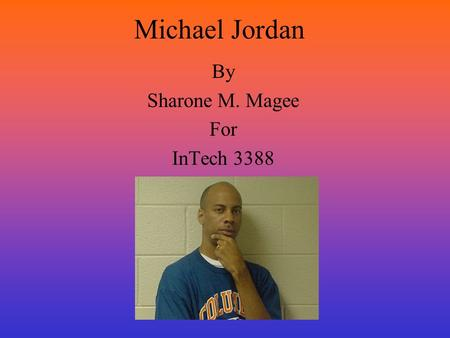 Michael Jordan By Sharone M. Magee For InTech 3388.