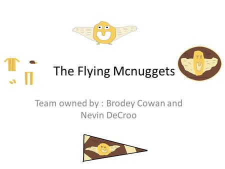 The Flying Mcnuggets Team owned by : Brodey Cowan and Nevin DeCroo.