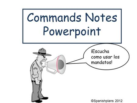 Commands Notes Powerpoint