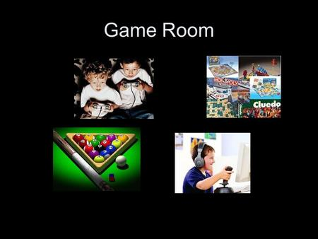 Game Room. The Next Master Designers Create your own fabulous game room using polygons.