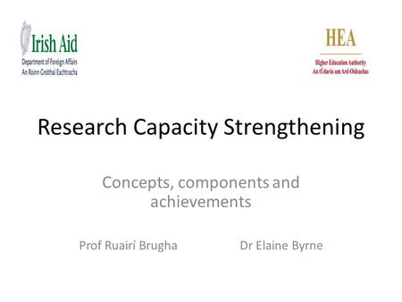 Research Capacity Strengthening