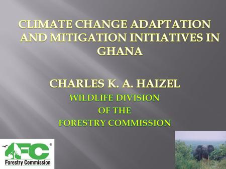 PRESENTATION OUTLINE Introduction Climate change initiatives Capacity Challenges.