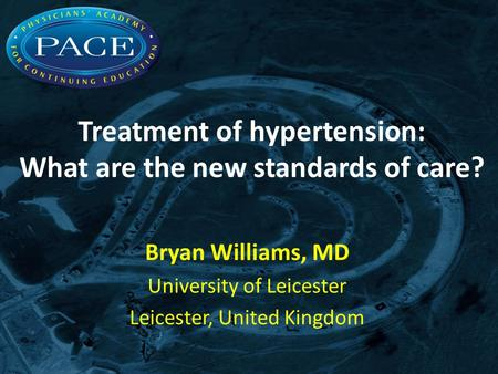 Treatment of hypertension: What are the new standards of care?
