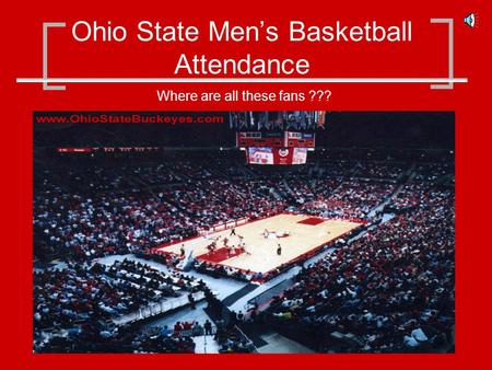 Ohio State Mens Basketball Attendance Where are all these fans ???