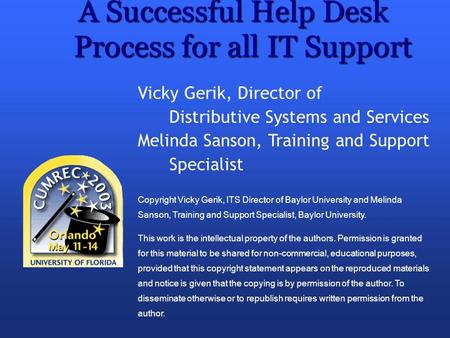 A Successful Help Desk Process for all IT Support