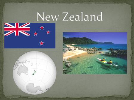New Zealand is an island country in the southwestern Pacific Ocean. The island is divided to the North, South and numeros smaller islands. New Zealand.