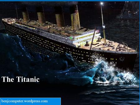 The Titanic benjcomputer.wordpress.com. The purpose of my research is to inform the reader about one of the worst tragedies in history, the sinking of.