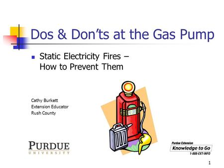 Dos & Don'ts at the Gas Pump