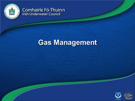 Copyright 2012 CFT GAS/1 Gas Management. Copyright 2012 CFT GAS/2 Introduction Recap – Advanced Nitrox Manual calculation prone to error Planning software.