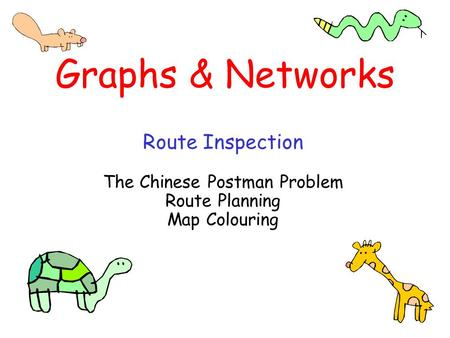 The Chinese Postman Problem Route Planning Map Colouring