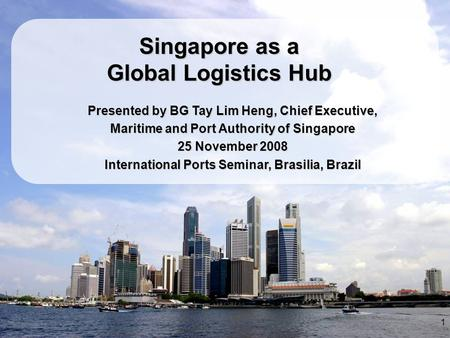 Singapore as a Global Logistics Hub