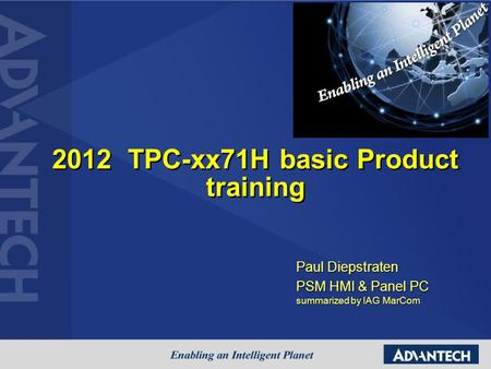 2012 TPC-xx71H basic Product training