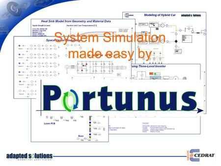 System Simulation made easy by. Efficient Simulator Technology - Several analysis types / initialization options - Coupled analogue and digital simulators.