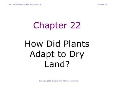 How Did Plants Adapt to Dry Land?