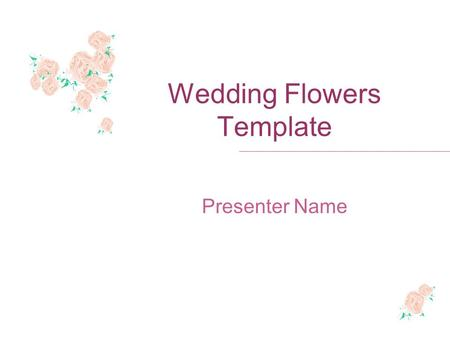 Wedding Flowers Template