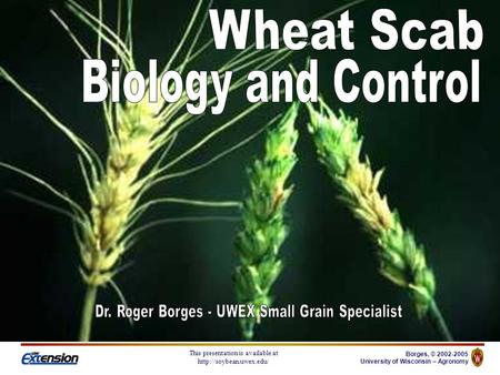 Borges, © 2002-2005 University of Wisconsin – Agronomy This presentation is available at
