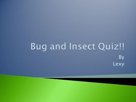 Bug and Insect Quiz!! By Lexy.