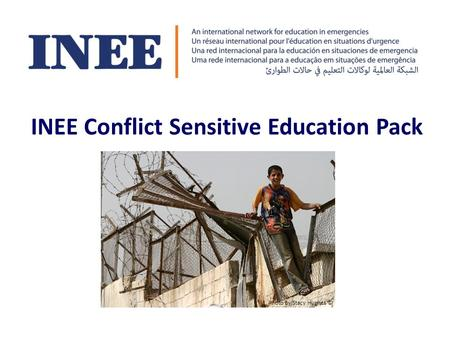 INEE Conflict Sensitive Education Pack Photo by Stacy Hughes ©