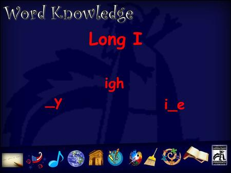 Long I _y igh i_e 1.kite five mine time 2.high might right tight 3. fly cry why 4. like liked liking try tried trying 5.happen happened happening 6.visit.