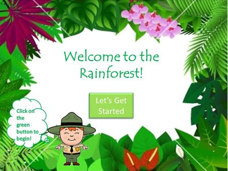 Welcome to the Rainforest! Lets Get Started Lets Get Started.