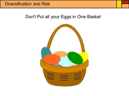 Don't Put all your Eggs in One Basket Diversification and Risk.