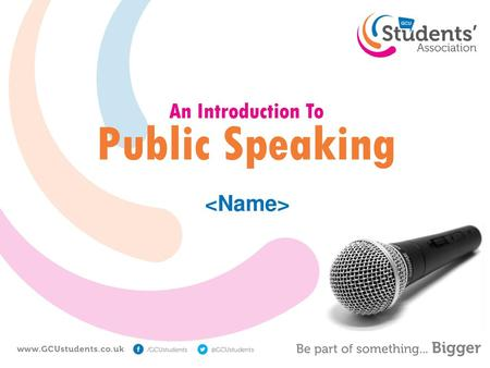 An Introduction To Public Speaking