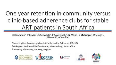 Community based ART adherence Clubs: A community model of