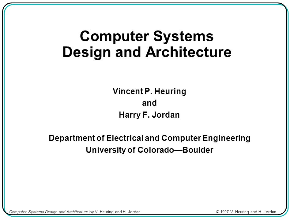Computer Systems Design And Architecture Ppt Video Online Download