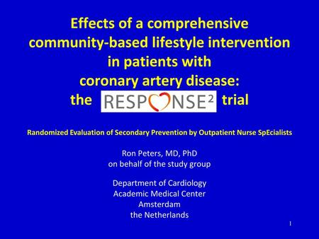 Impact of a Comprehensive Lifestyle Peer Group-Based
