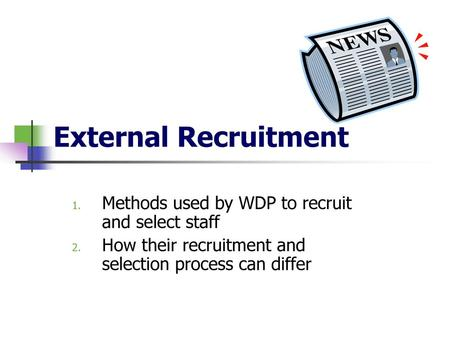RECRUITMENT AND SELECTION OF STAFF - ppt download