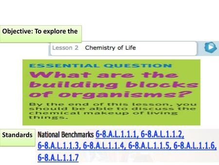 Unit 1 Lesson 2 Chemistry Of Life Ppt Video Online Download