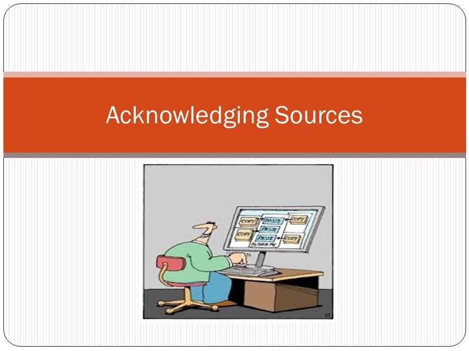 Sources Acknowledgement   Essay Freelance Writers