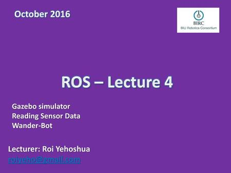 Teaching Assistant: Roi Yehoshua - ppt download