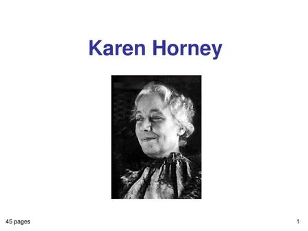 katherine horney