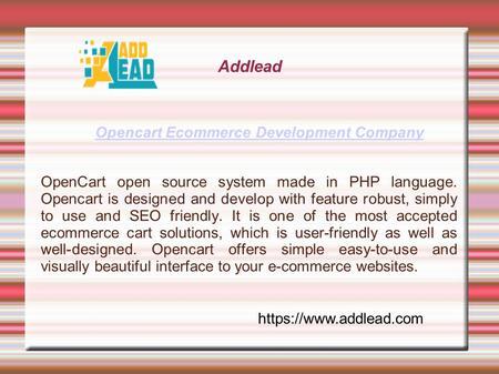 Opencart eCommerce Development India - ppt download