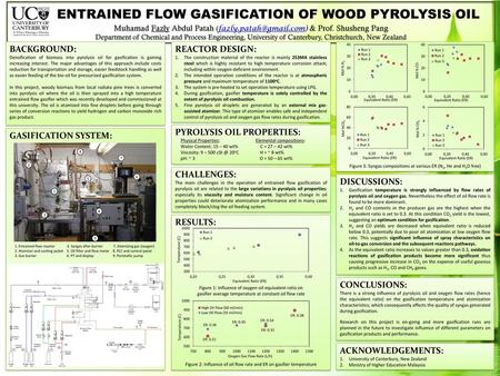 ENTRAINED FLOW GASIFICATION OF WOOD PYROLYSIS OIL - ppt download