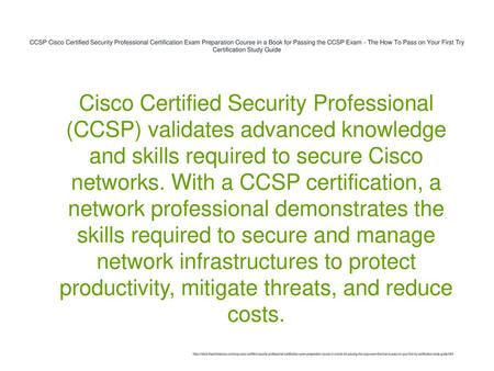 CCSP Cisco Certified Security Professional Certification Exam ...